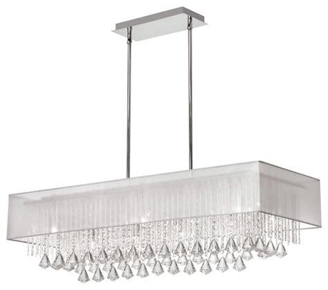 horizontal chandelier dainolite jac3610c pc 819 10 light horizontal