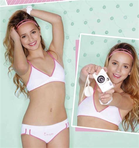 pedobear young little girl models spread 4100 conjunto triangulito alg lycra con vivos flou