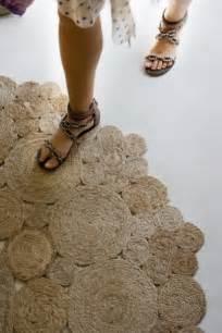 diy rustic rug of jute or sisal rope shelterness