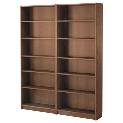 ikea ordnerregal billy kitaplık kahverengi dişbudak kaplama 160x202x28 cm