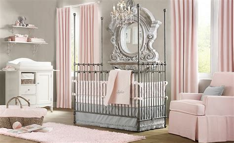 White And Grey Nursery Curtains Interior Design Pink White Gray Baby Room