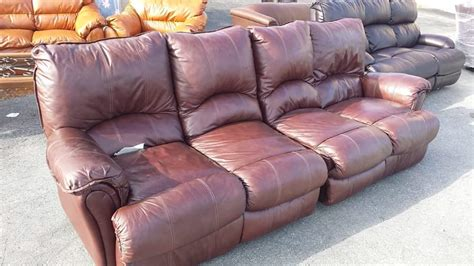 All Leather Reclining Sofa Real Leather Reclining Sofa Sectional All4u
