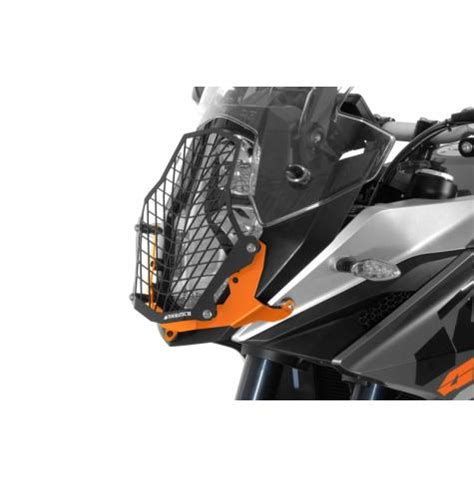 quick release stainless steel headlight guard ktm
