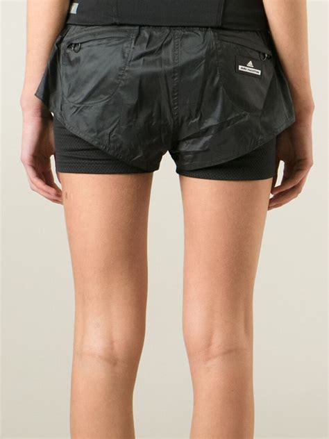 Adidas Stella Mc Cartney Running Shorts 1 adidas by stella mccartney layered running shorts in black lyst