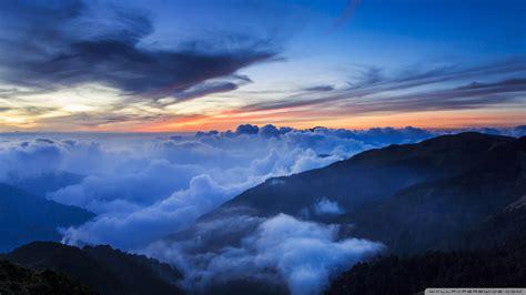 seaofcloud wallpaper  sunrise mountain