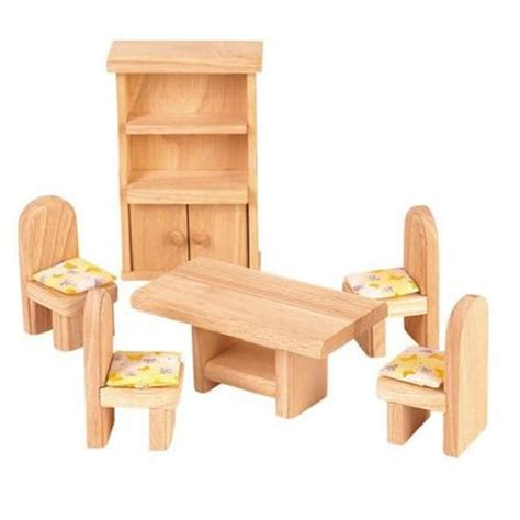 wooden dollhouse furniture plan toys classic dining