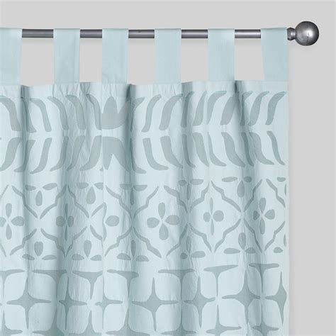 sheer cotton curtains aqua petal cutwork sheer cotton curtains set of 2 world