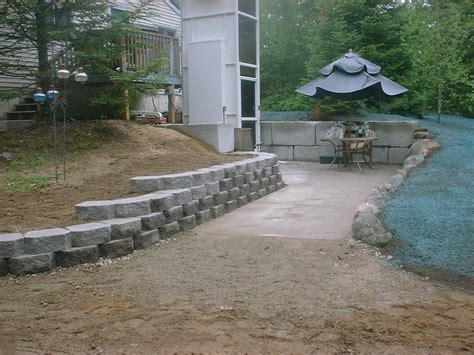 small retaining wall and new lawn ossipee nh labrie
