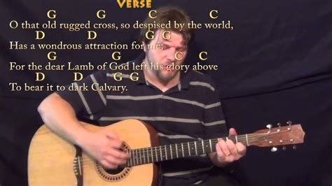 the rugged cross chords in g the rugged cross hymn strum guitar cover lesson in g