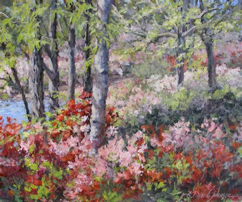 spring paint stars of spring painting by l diane johnson