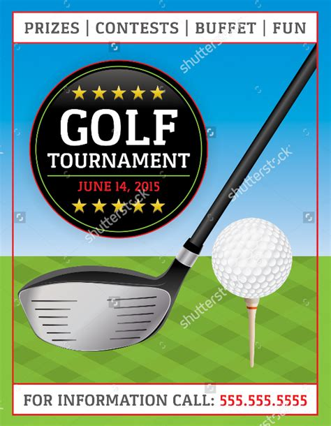 golf tournament flyer template golf tournament flyer template 20 in vector