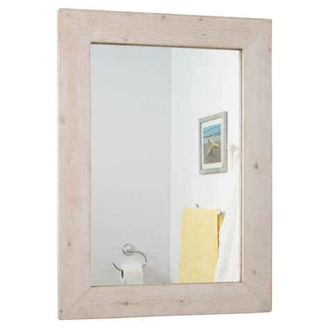 bathroom reclaimed wood mirror frame rustic bathroom