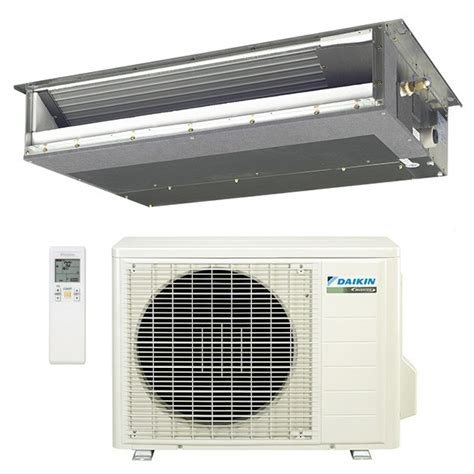 ductless mini split concealed 12 000 btu daikin 15 seer concealed slim duct mini split