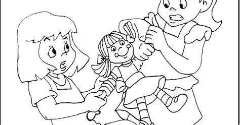 dibujos de nios peleando para colorear ni 241 os peleando para colorear imagui