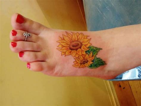 sunflower tattoo designs on foot big sunflower designs for