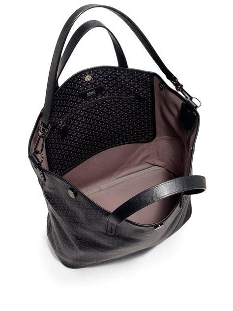 Tote Bag Blacu Costum Tote Bag Blacu lyst bally trooper coated canvas tote bag in black for
