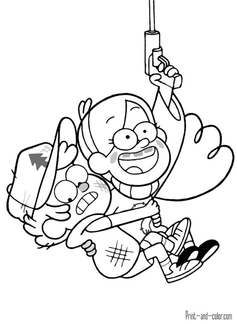 coloring book pages to print and color gravity falls coloring pages print and color