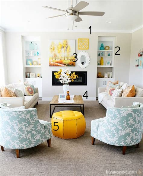 5 ways to get this look aqua and yellow living room infarrantly creative