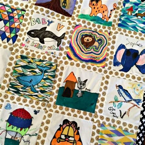 Baby Activity Quilt by Creative Baby Shower Activity Idea Quilt