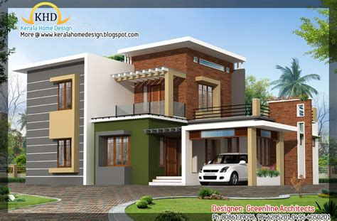 contemporary home elevation 1915 sq ft kerala home