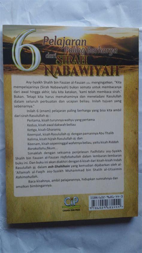 Sirah Nabawiyah Versi Tadabbur Buku 6 Pelajaran Paling Berharga Dari Sirah Nabawiyah