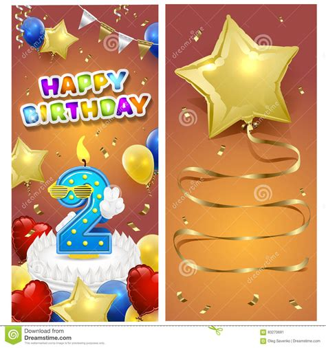 happy birthday card template ilustrator happy birthday vertical card template with gold sparkles