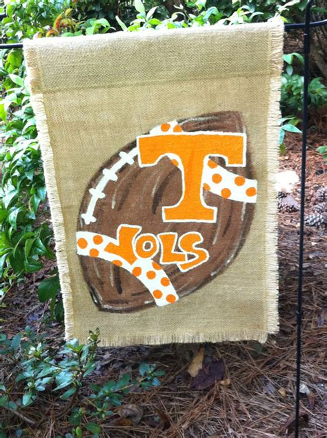 items similar to tennessee personalized college football items similar to tennessee vols burlap garden flag