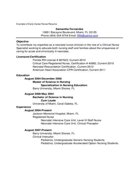 resume new rn resume sample