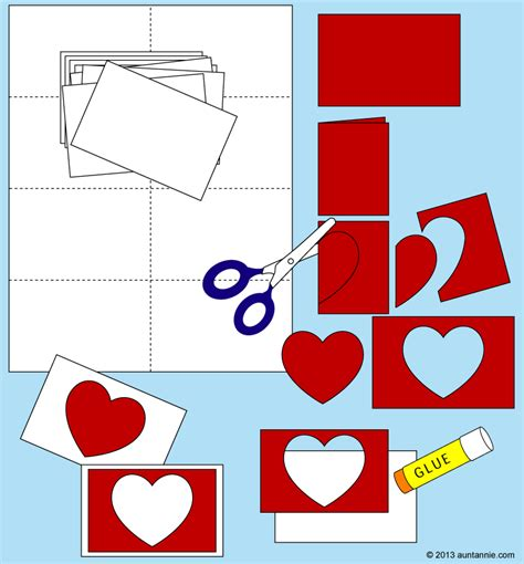 how to make cut out cards easy cards for to make s day