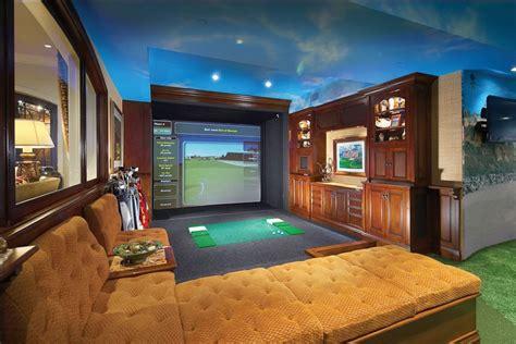 golf simulators  popular  homes built  high