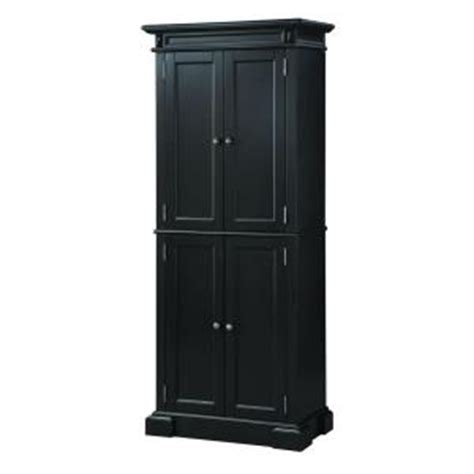 Kitchen Pantry Cabinet Home Depot by Home Styles Americana Black Pantry 5004 694 The Home Depot