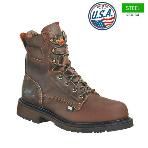 american made boots thorogood 8 in american heritage steel toe boots usa made