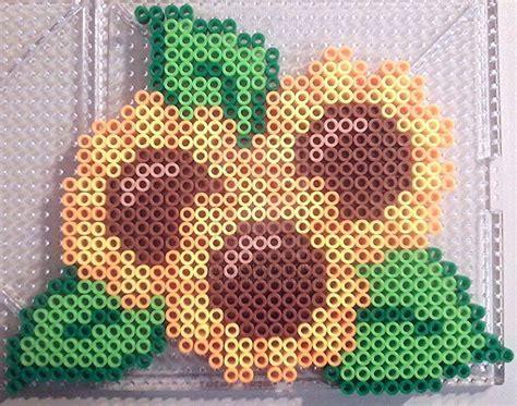 perler bead flower designs 38 best perler bead flowers images on pearler