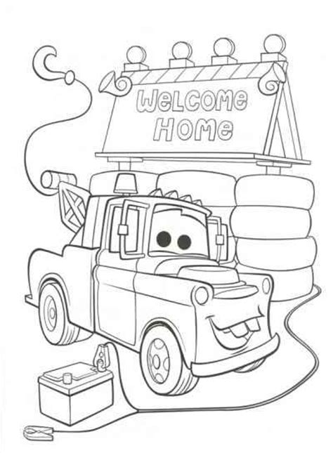 Coloring Page Cars 2 by Disney Cars 2 Coloring Pages Disney Cars