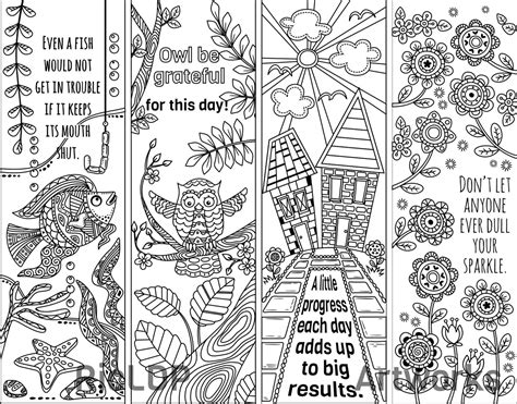 school doodle colouring bookmarks 8 coloring bookmark doodles with quotes bookmarks