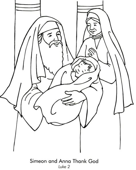 coloring page zechariah at the temple simeon and meet jesus