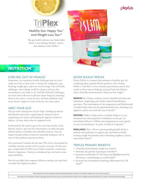 Plexus Triplex Detox Symptoms by 09b14 Plexus Triplex Information Sheet By Angela Issuu