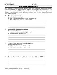 post event evaluation template best photos of event evaluation form questions post