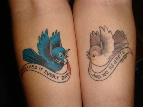 cute matching couples tattoos 60 matching ideas for couples together forever