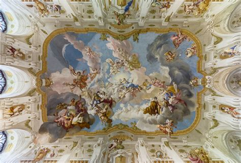 fresco beautiful picture of the day the ceiling fresco at seitenstetten
