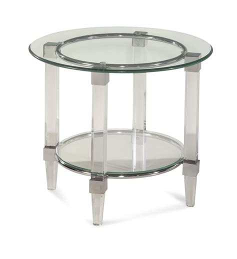 Acrylic Accent Table Cristal End Table Acrylic Chrome 2929 220ec Decor South