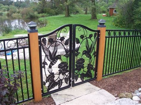 metal backyard gates 15 decorative metal gate design for amazing first impression