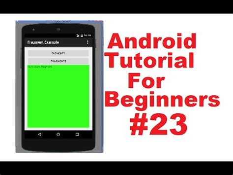 android fragment tutorial android tutorial for beginners 23 fragments in android part 2