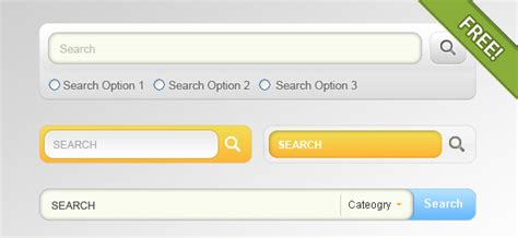 search designs free 4 designs for search input field psd freebie