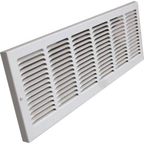 16x8 Soft White Baseboard Return Air Grille Steel