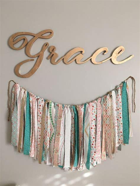 goodwillista graces nursery diy banner baby girl