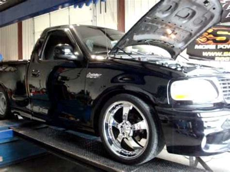 ford lightning  magnum powers supercharger  obx headers  youtube