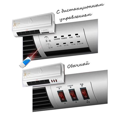 Remote Bathroom Wall Heater Wall Mounted Electric Heatersbath Home Dual Heating Wall
