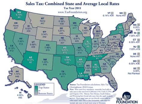 map of us states by income compare sales income and property taxes by state us