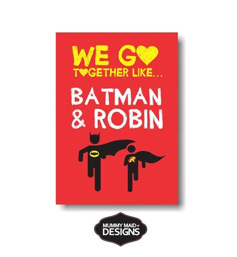 batman robin wall art felt